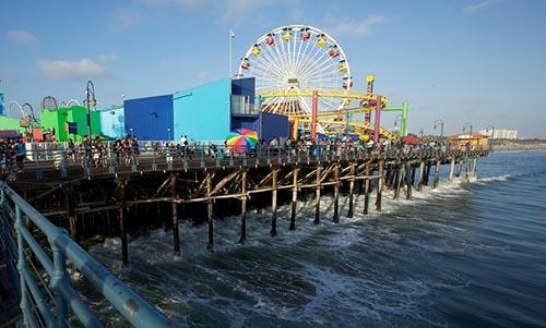 Cau cang Santa Monica Pier 1